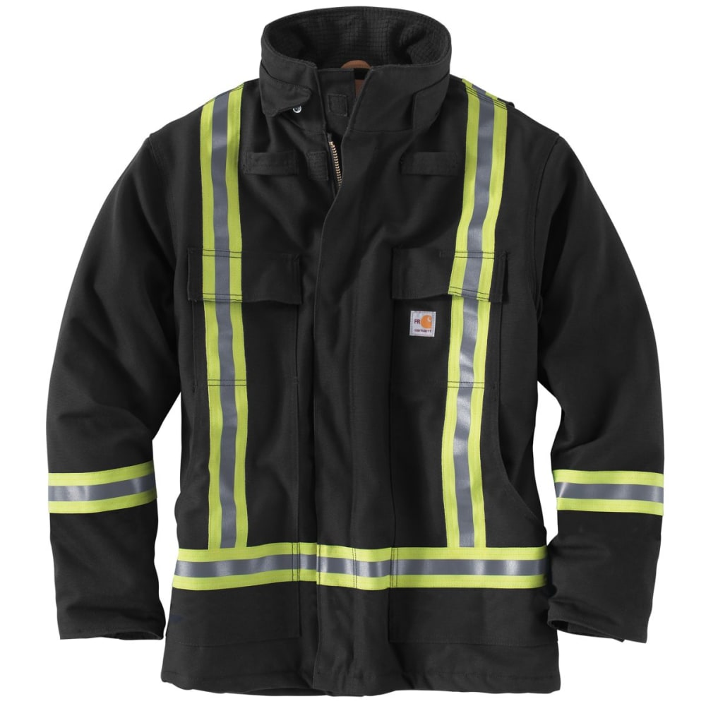 CARHARTT Striped Duck Traditional Coat, Extended Sizes - BLACK