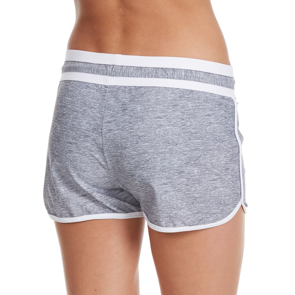 FREE COUNTRY Women's Heather Sport Swim Shorts - CLOUD/WHITE