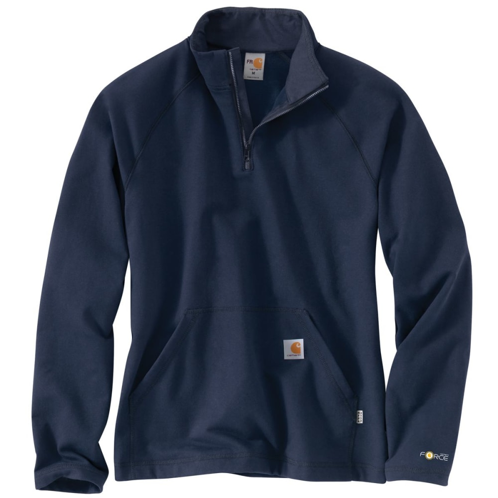 CARHARTT Force Rugged Flex Quarter Zip Fleece, Extended Sizes - DARK NAVY
