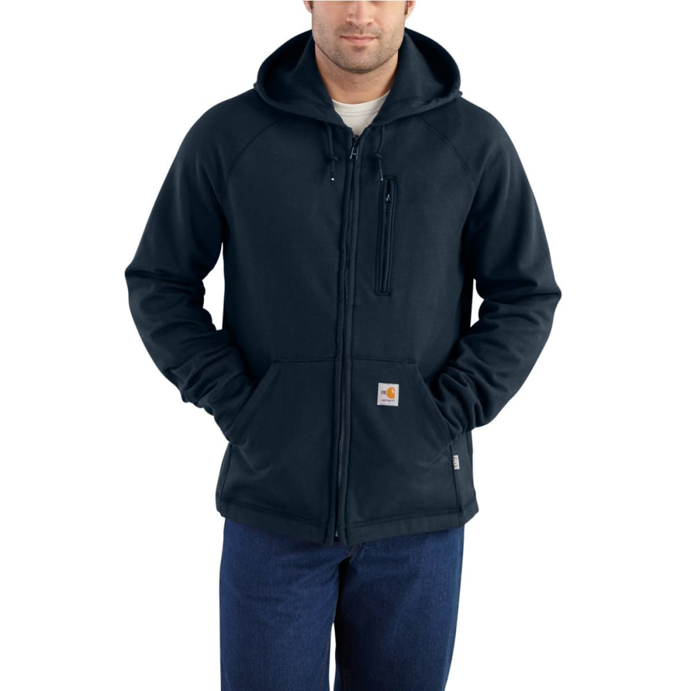 CARHARTT Force Rugged Flex Hooded Full-Zip Fleece, Extended Sizes - DARK NAVY