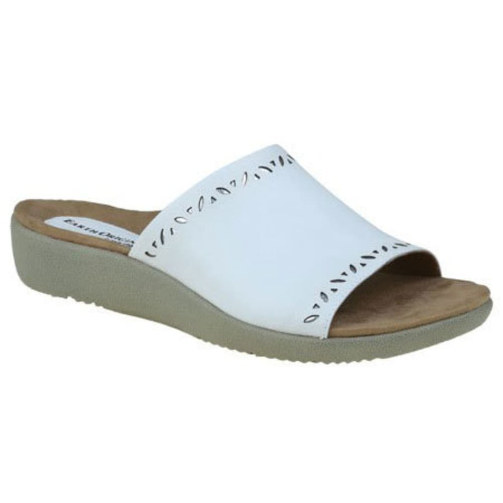 EARTH ORIGINS Women's Valorie Slide Sandals, White - WHITE