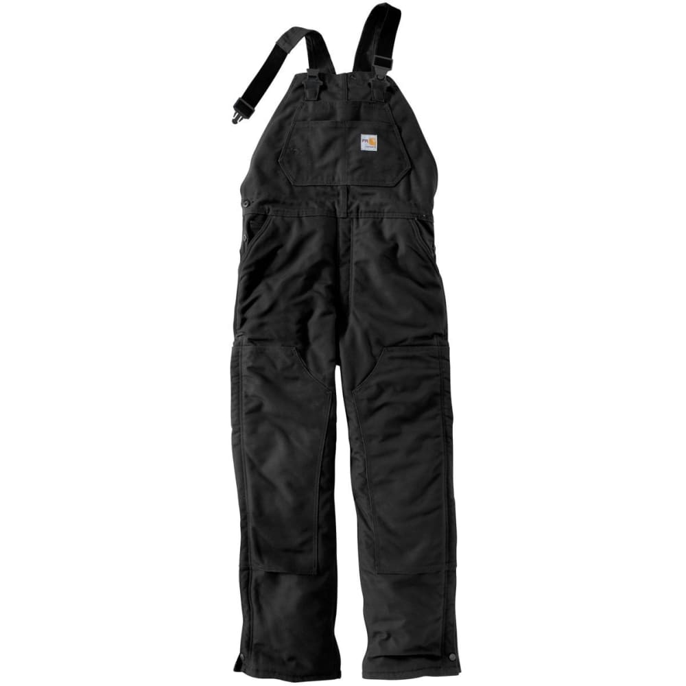 CARHARTT Duck Bib Overall/Unlined, Extended Sizes - BLACK