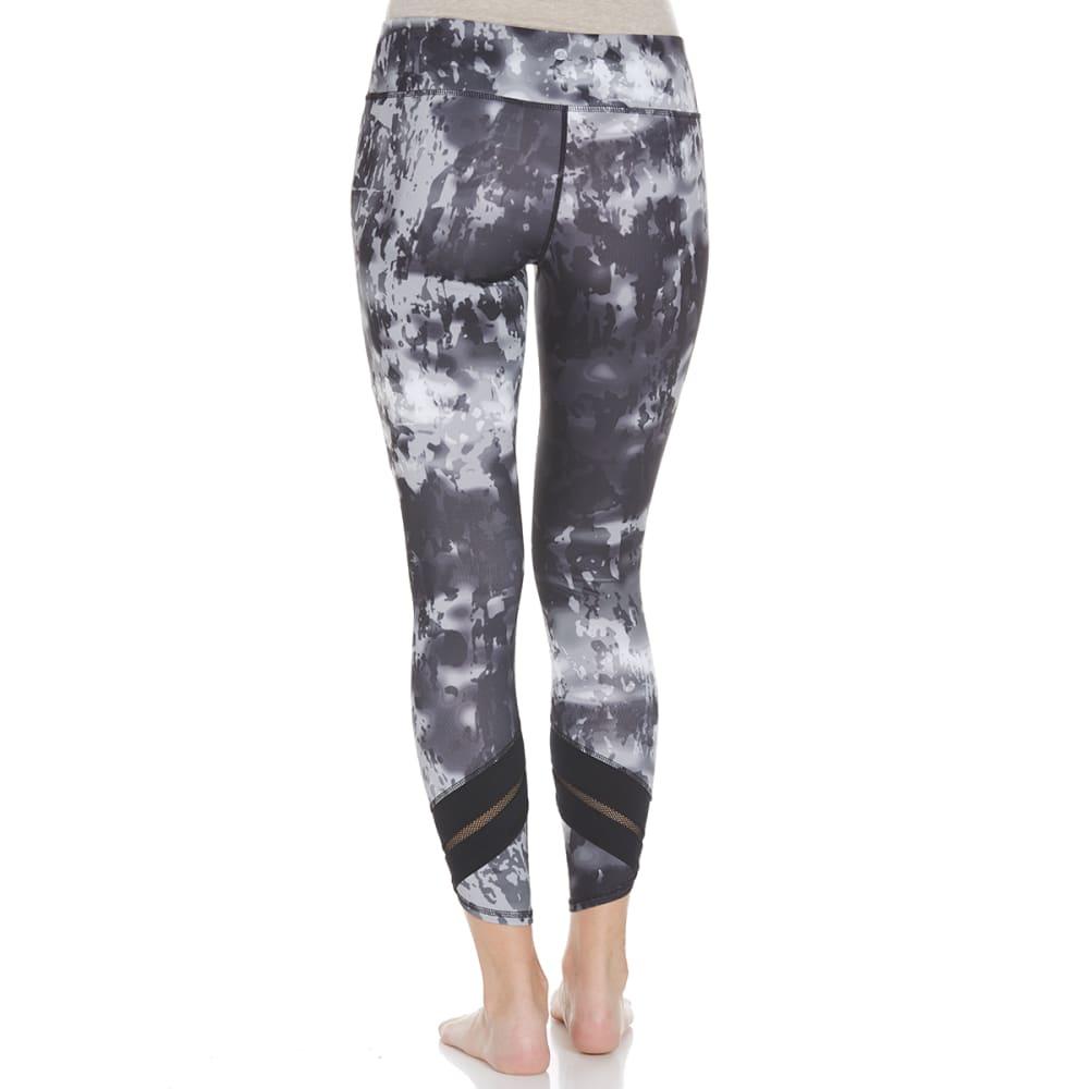 APANA Women's Printed Crop Leggings - GREY COMBO-744