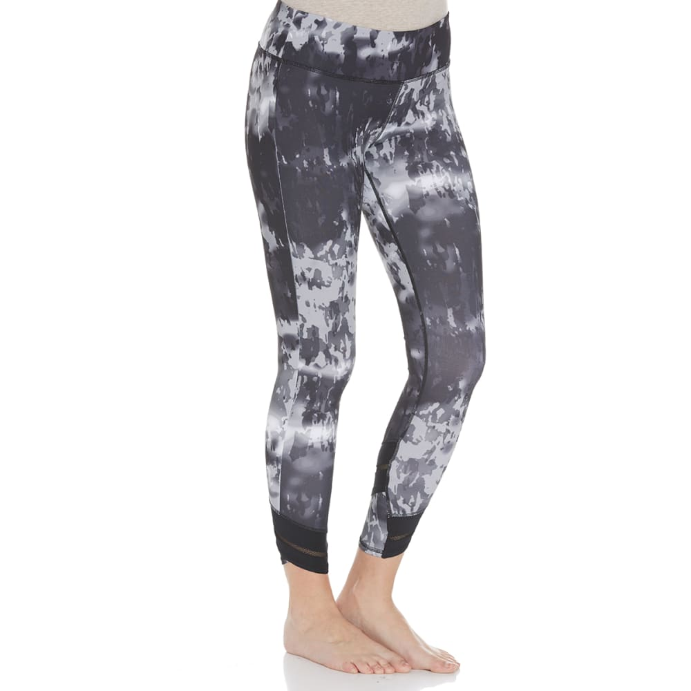 APANA Women's Printed Crop Leggings - GREY COMBO-744
