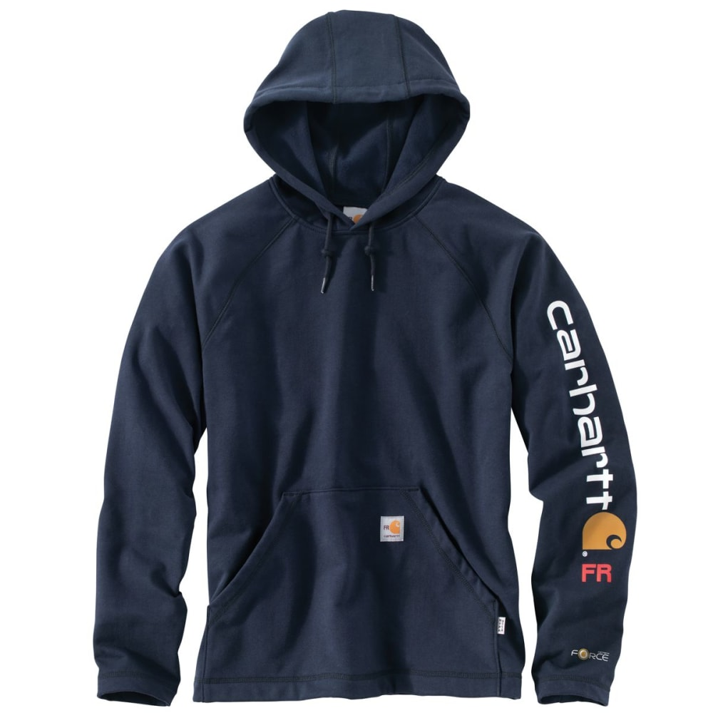 CARHARTT Force Rugged Flex Graphic Fleece, Extended Sizes - DARK NAVY