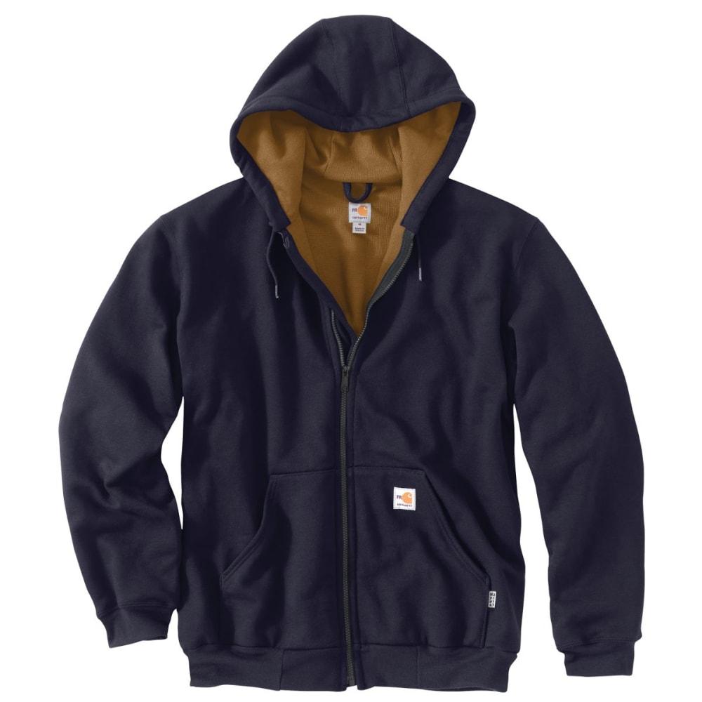 CARHARTT Striped Klondike Sweatshirt, Extended Sizes - DARK NAVY
