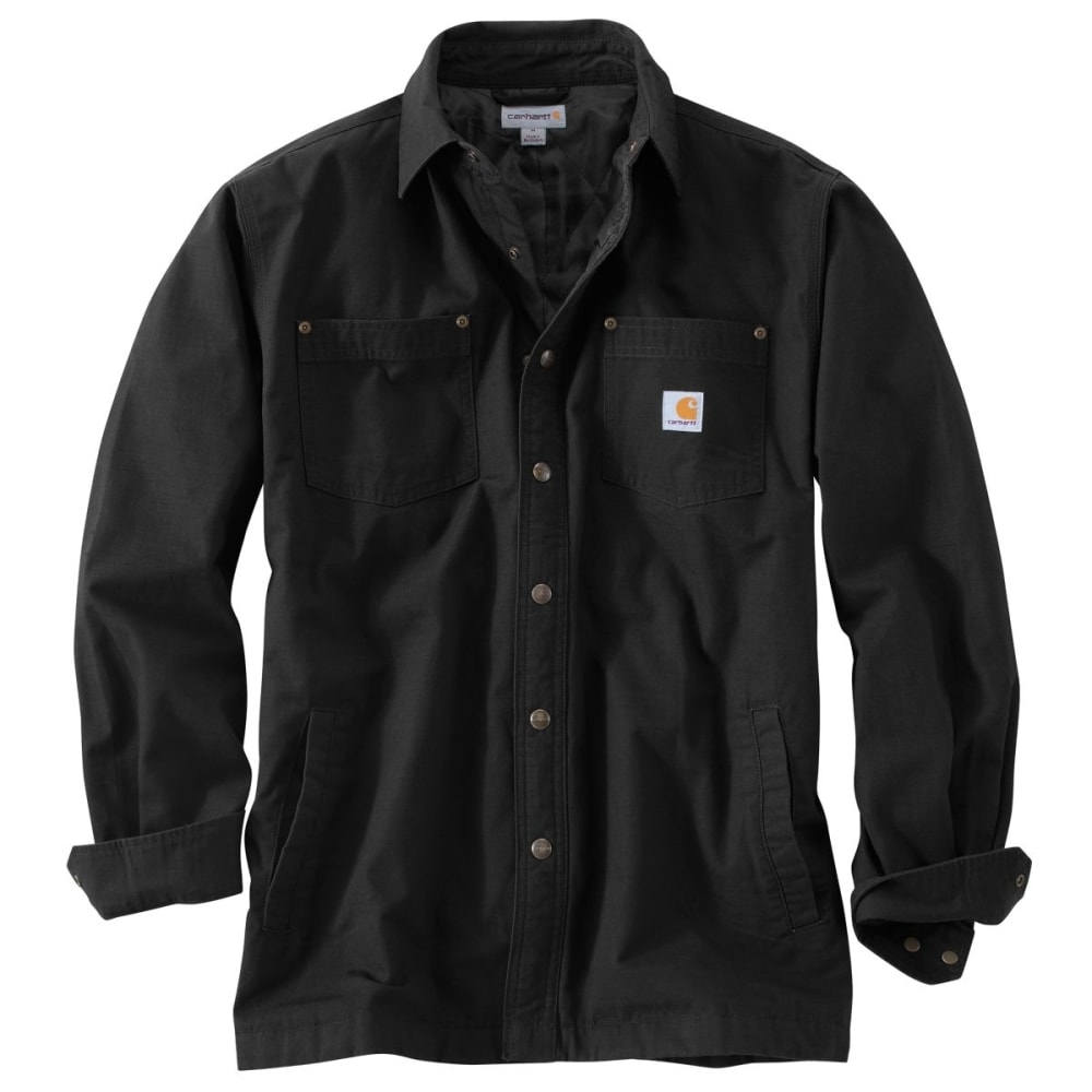 CARHARTT Chatfield Ripstop Shirt Jac, Extended Sizes - BLACK
