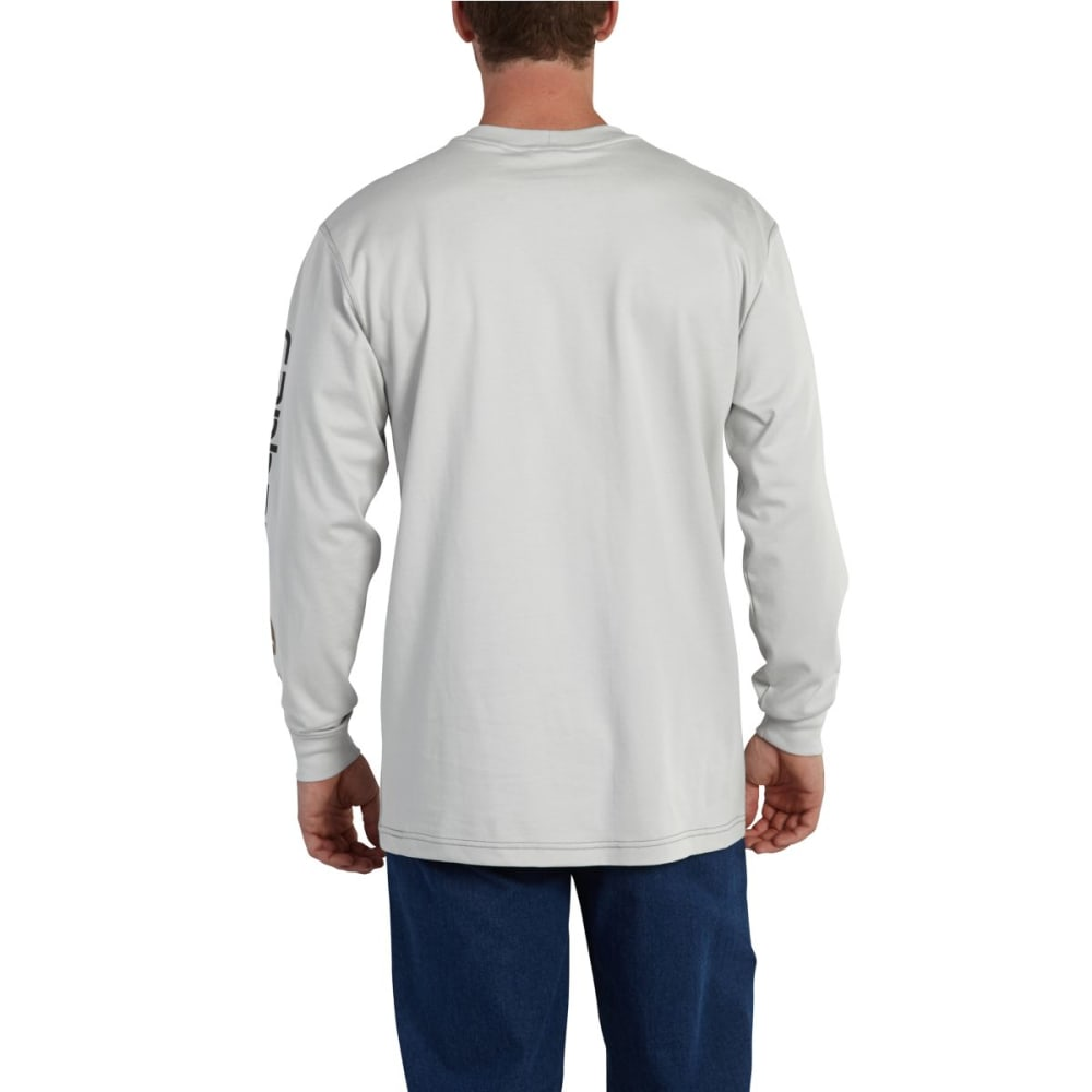 CARHARTT Force Graphic Long-Sleeve T-Shirt, Extended Sizes - LIGHT GRAY