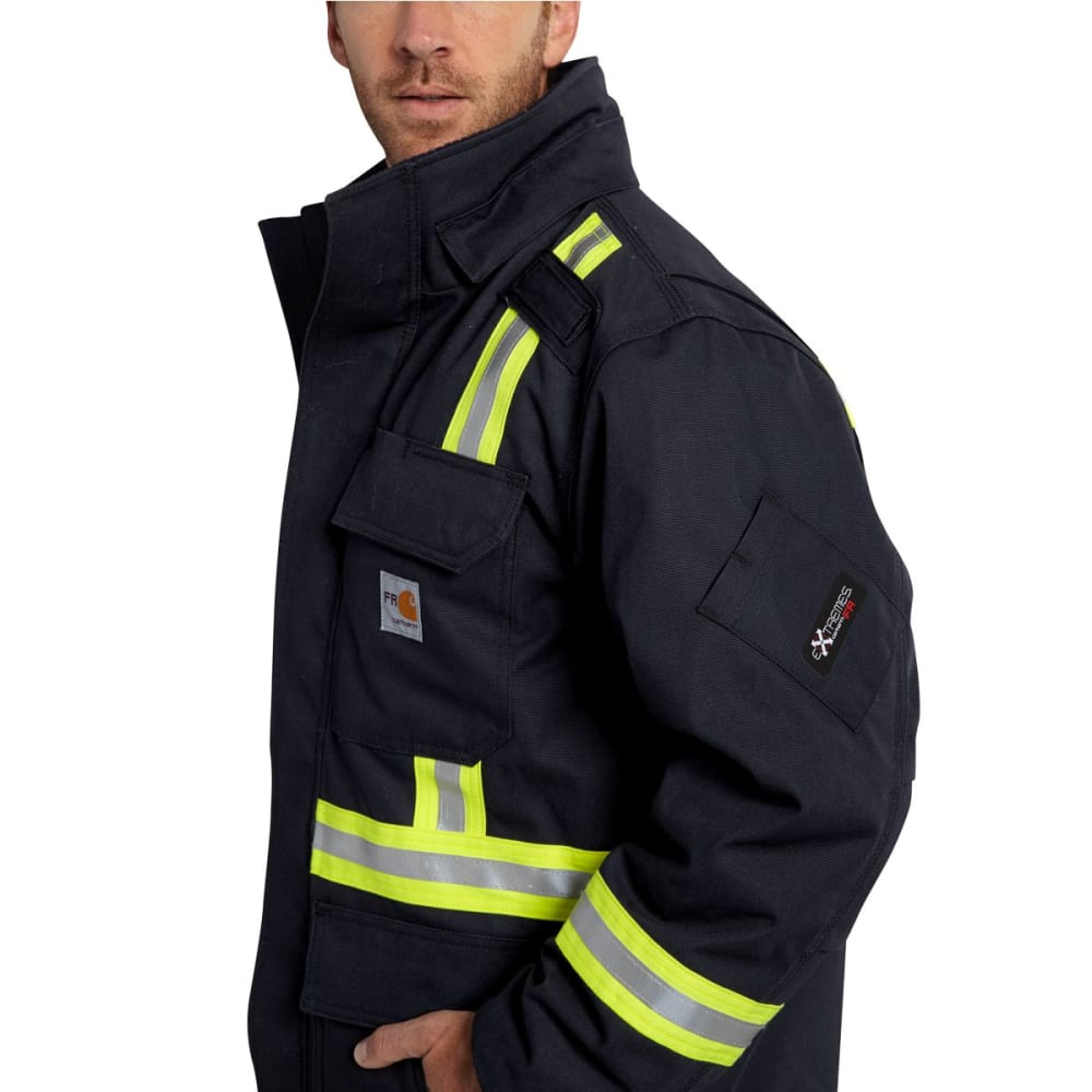 CARHARTT Flame-Resistant Extremes Arctic Coat, Extended Sizes - DARK NAVY