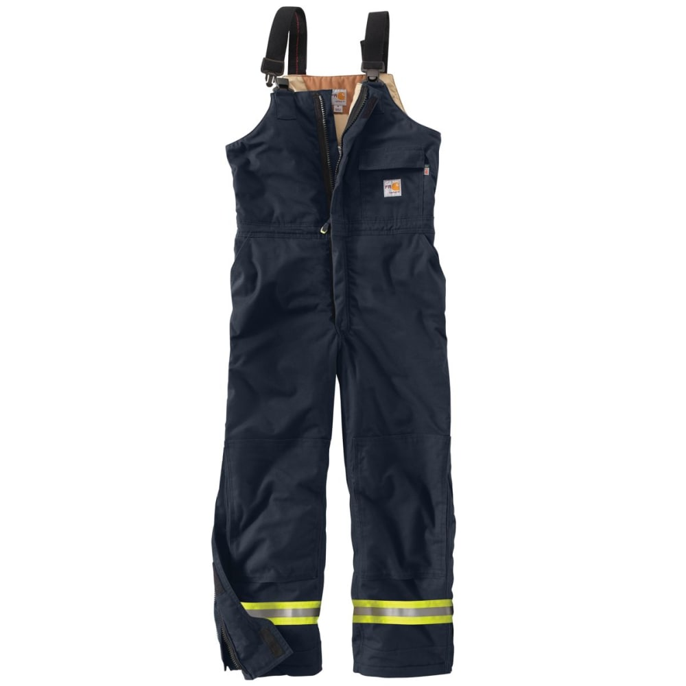 CARHARTT Flame-Resistant Extremes Arctic Biberall, Extended Sizes - DARK NAVY