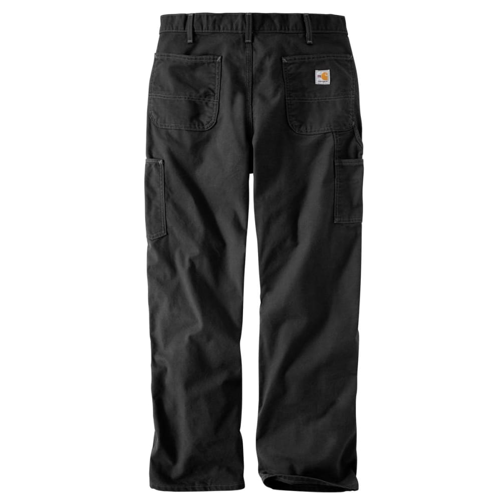 CARHARTT Flame-Resistant Washed Duck Work Dungaree, Extended Sizes - BLACK