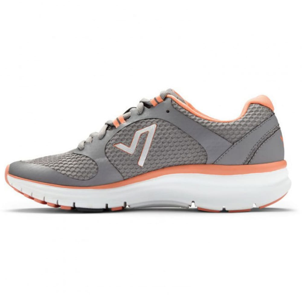 VIONIC Women's Elation Active Shoes, Grey/Coral - GREY/CORAL