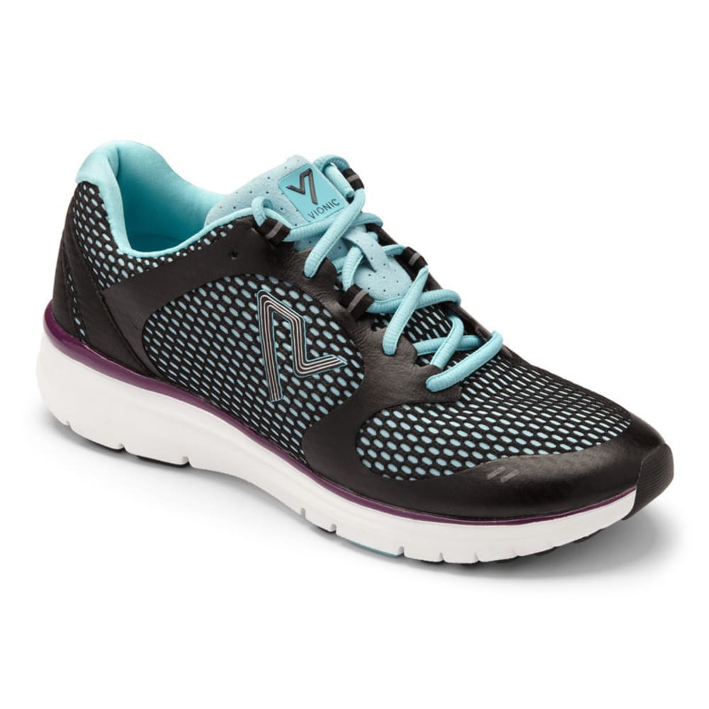 VIONIC Women's Elation Active Shoes, Black/Teal - BLACK/TEAL