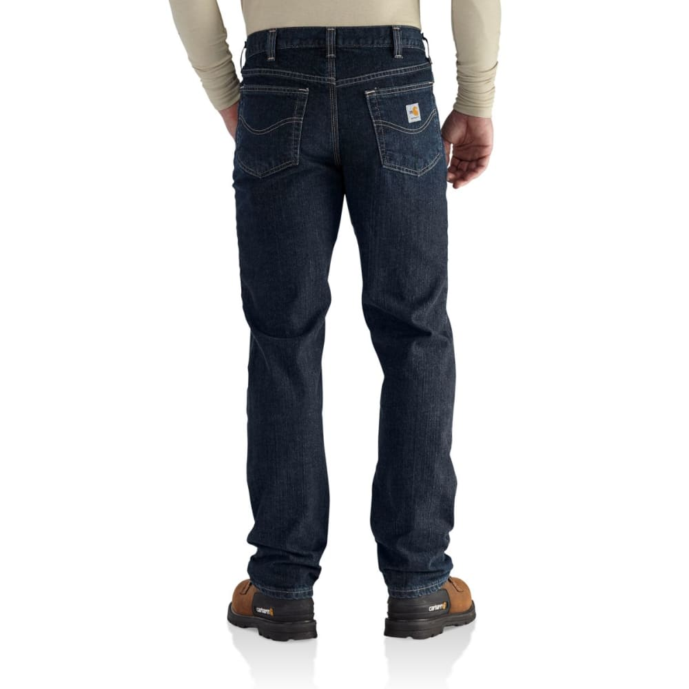 CARHARTT Rugged Flex Jean Straight Traditional Fit, Extended Sizes - DEEP INDIGO WASH