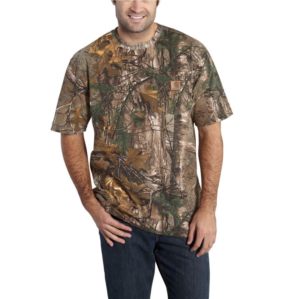 CARHARTT Men's Camo Short-Sleeve Shirt, Extended Sizes - REALTREE XTRA