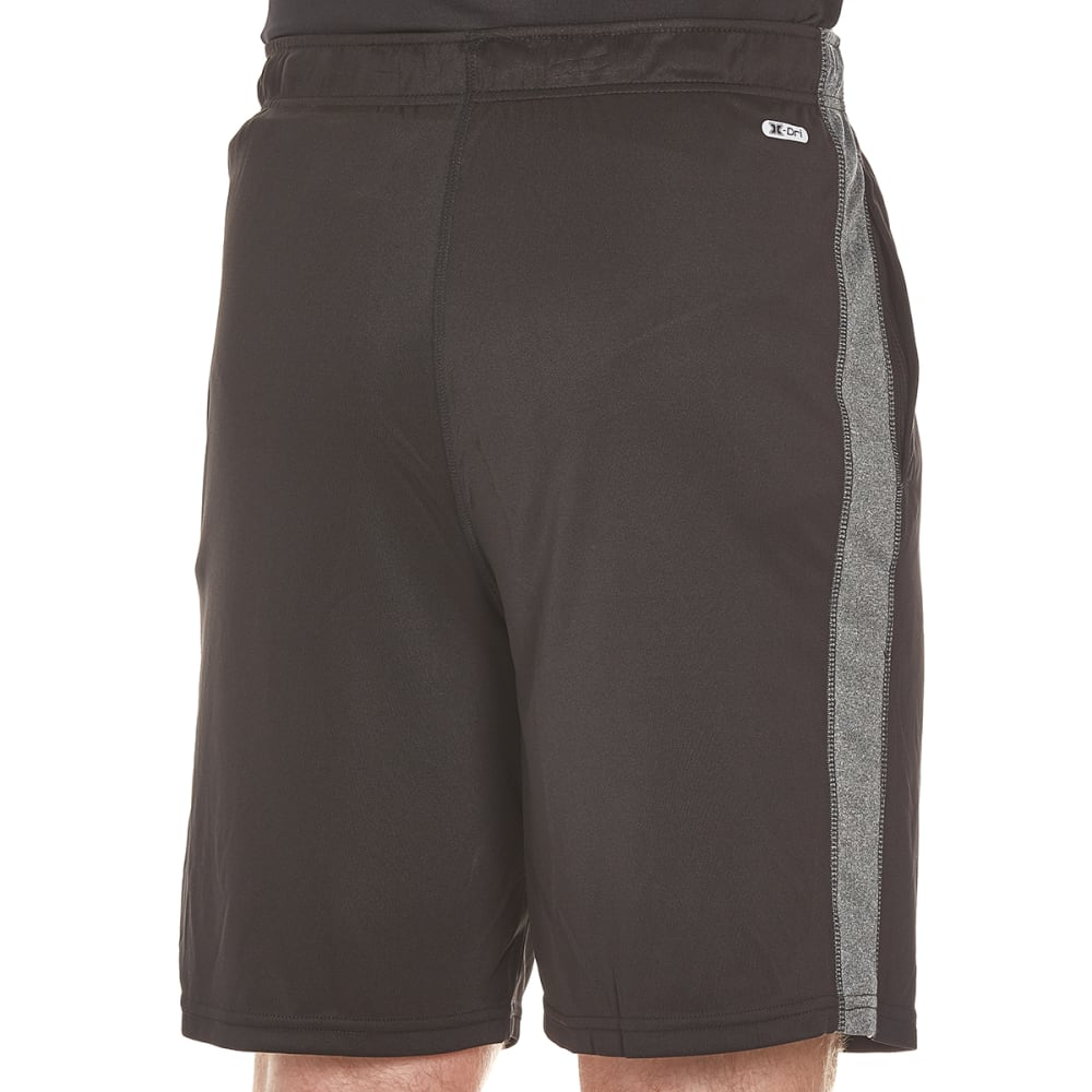 RBX Men's Training Shorts with Inserts - BLK W/ GRY HTR