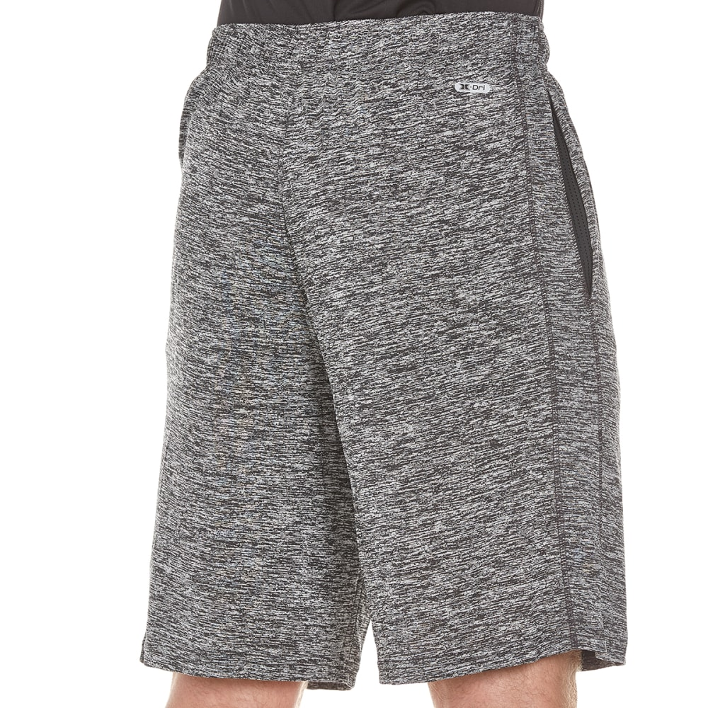 RBX Men's Striated Training Shorts - BLACK STRIATED