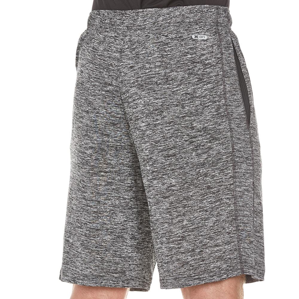 RBX Men's Striated Training Shorts - BLACK STRIATED