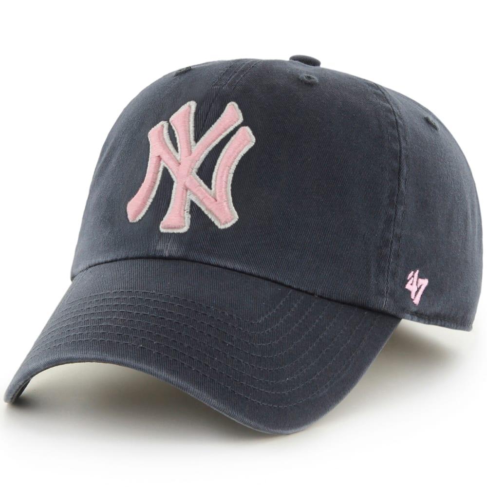 NEW YORK YANKEES Women's '47 MVP Adjustable Cap - NAVY/PINK