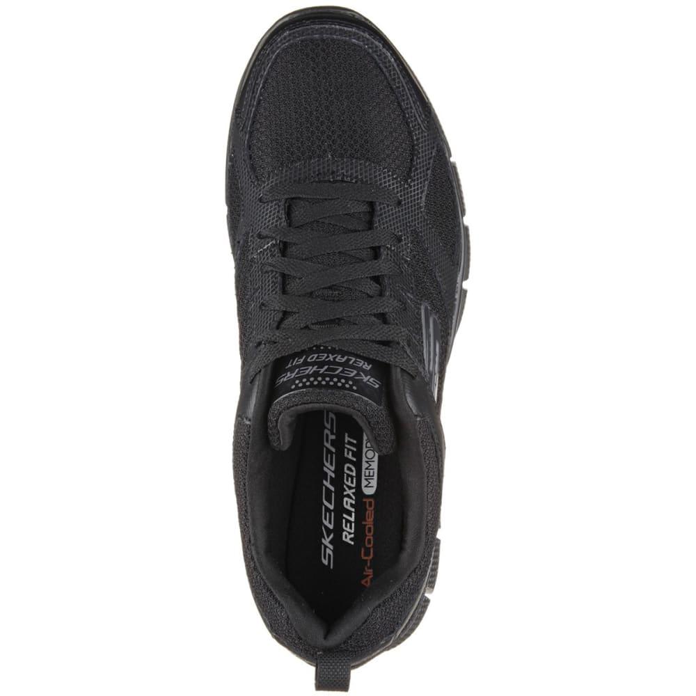 SKECHERS Men's Equalizer 2.0 - On Track Sneakers, Black, Wide - BLACK