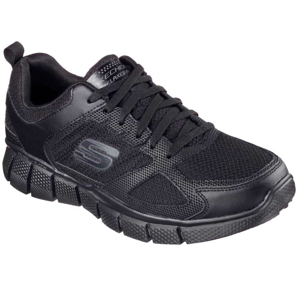 SKECHERS Men's Equalizer 2.0 - On Track Sneakers, Black, Wide - BLACK