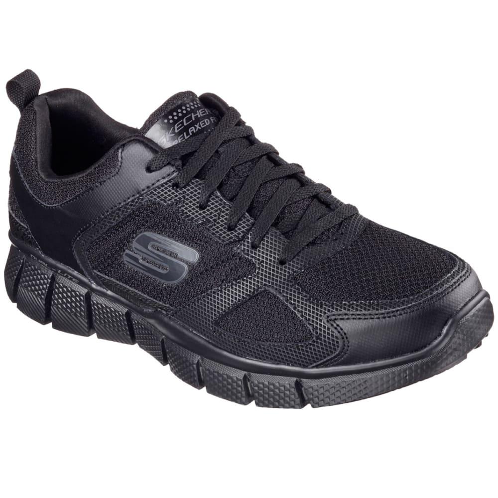 SKECHERS Men's Equalizer 2.0 - On Track Sneakers, Black, Wide 8
