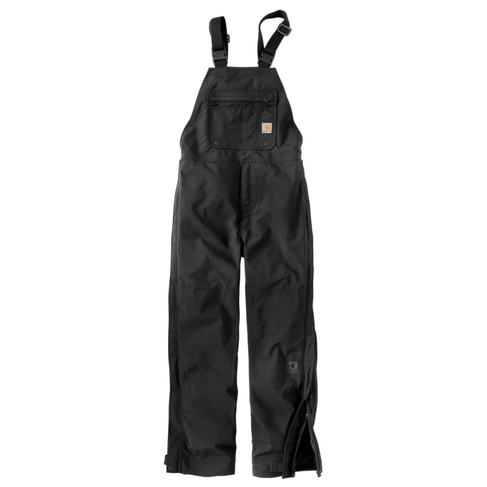 CARHARTT Shoreline Bib Overall, Extended Sizes - BLACK