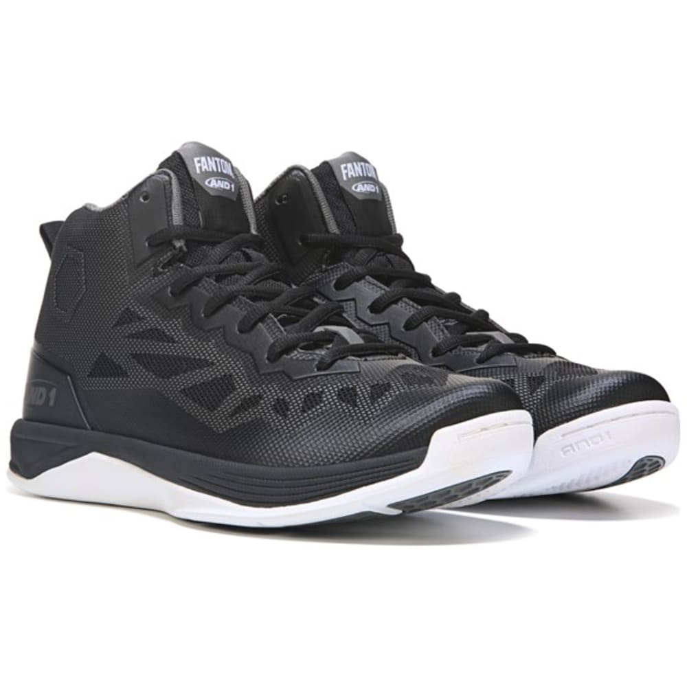 And1 Men's Fantom 2 Basketball Shoes - Black, 7