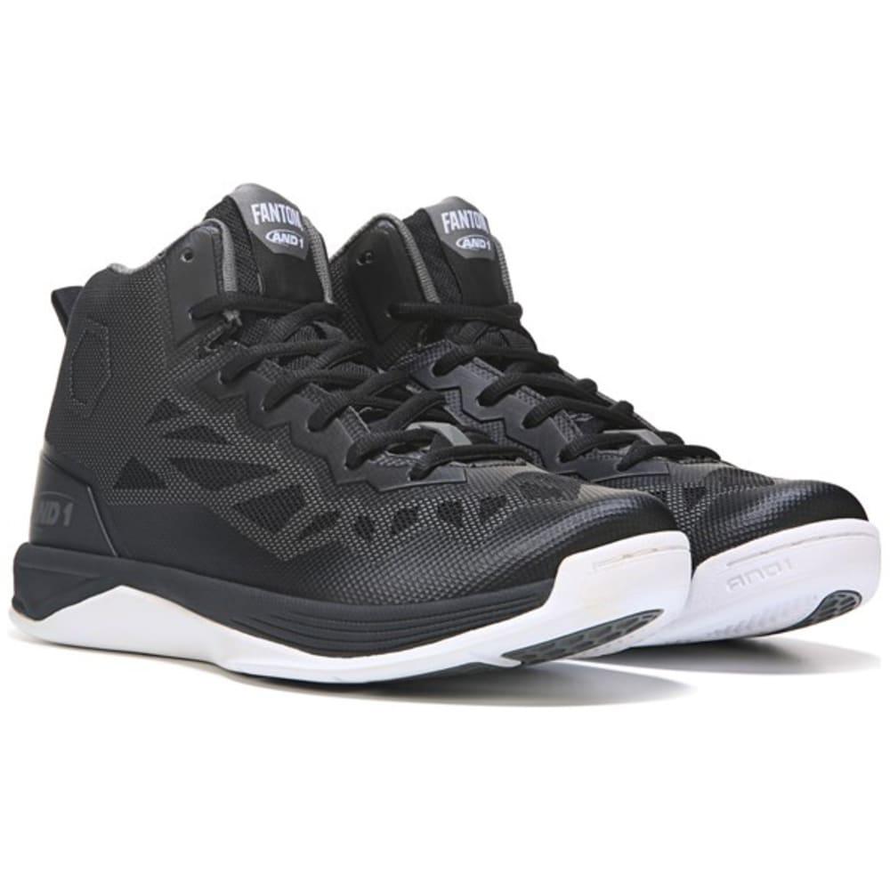 AND1 Men's Fantom 2 Basketball Shoes - BLACK