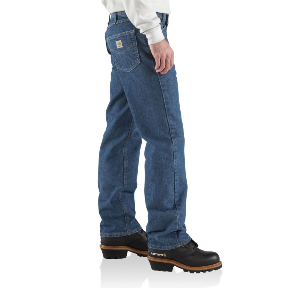 CARHARTT Flame-Resistant Relaxed Fit Utility Jean, Extended Sizes - MDS-MIDSTONE