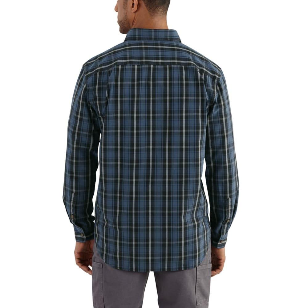 CARHARTT Bellevue Long-Sleeve Shirt, Extended Sizes - DARK COBALT BLUE