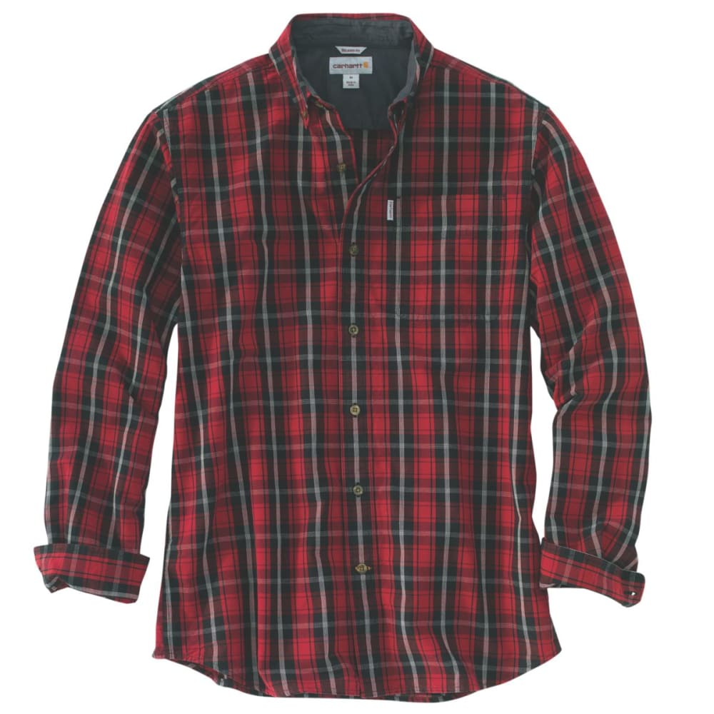 CARHARTT Bellevue Long-Sleeve Shirt, Extended Sizes - DARK CRIMSON