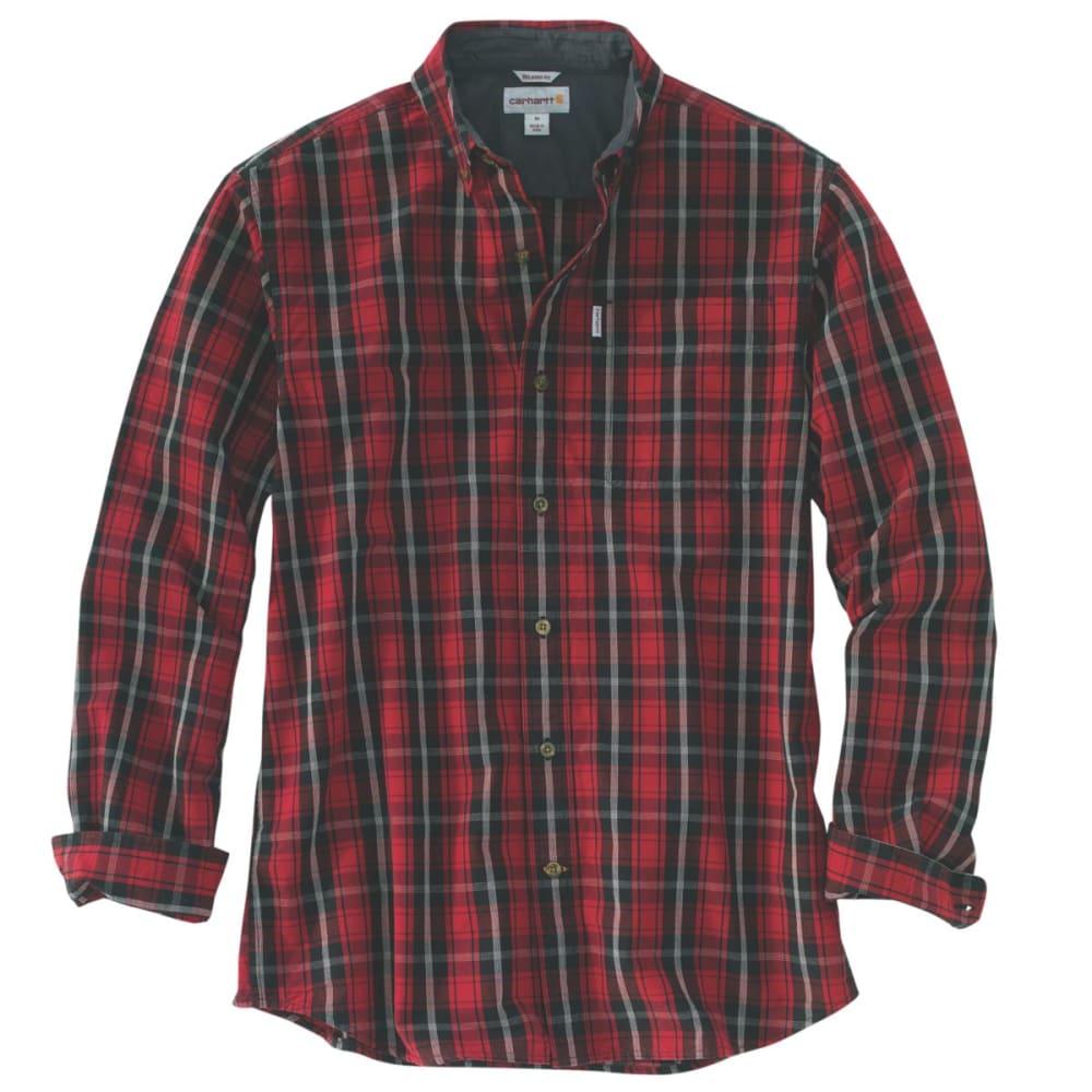 CARHARTT Bellevue Long-Sleeve Shirt, Extended Sizes - DARK CRIMSON