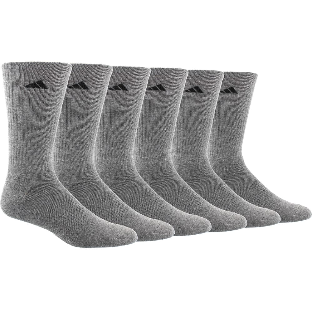 ADIDAS Men's Athletic Crew Socks, 6 Pack L