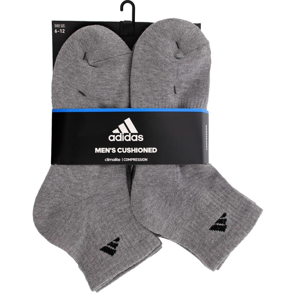ADIDAS Men's Athletic Quarter Socks, 6 Pack - GREY