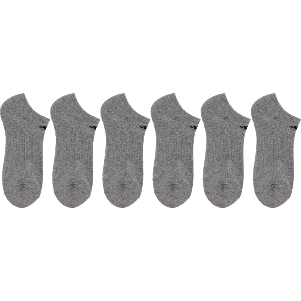 ADIDAS Men's Athletic No-Show Socks, 6 Pack - GREY