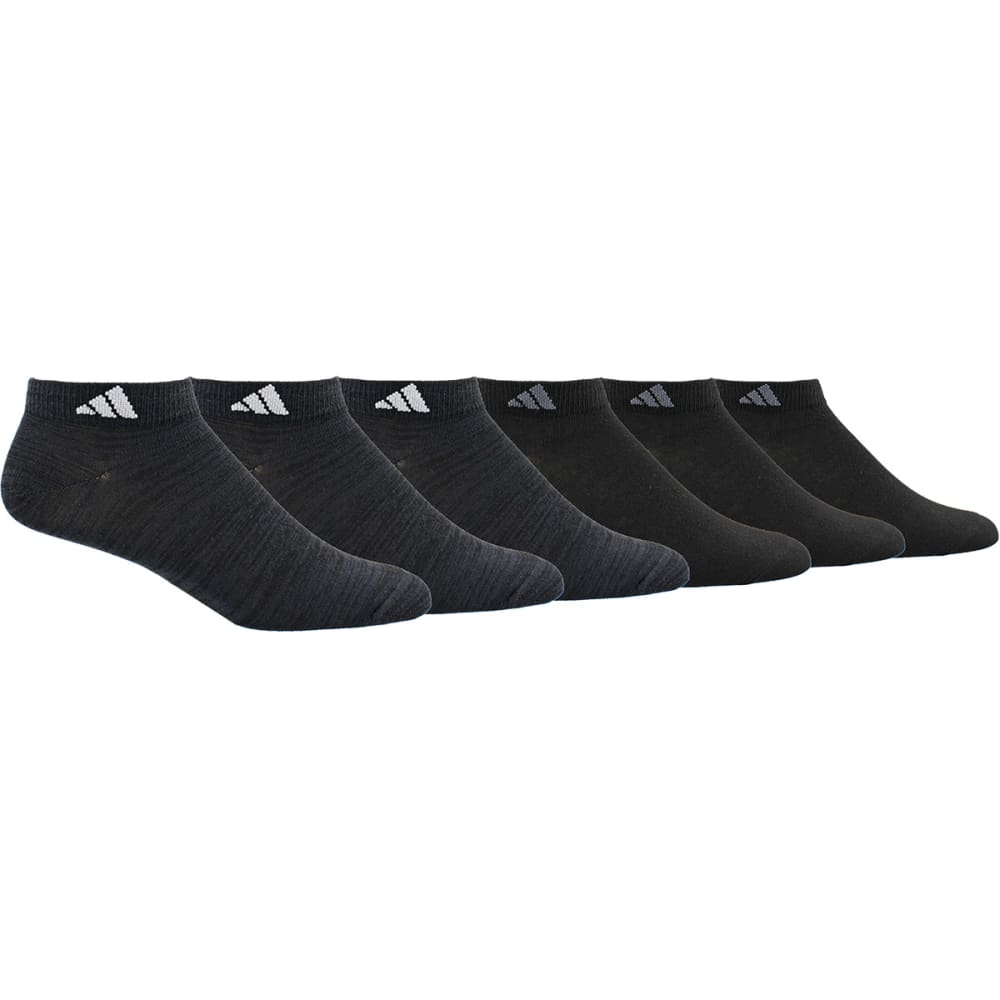Adidas Men's Superlite Low-Cut Socks, 6 Pack - Black, L