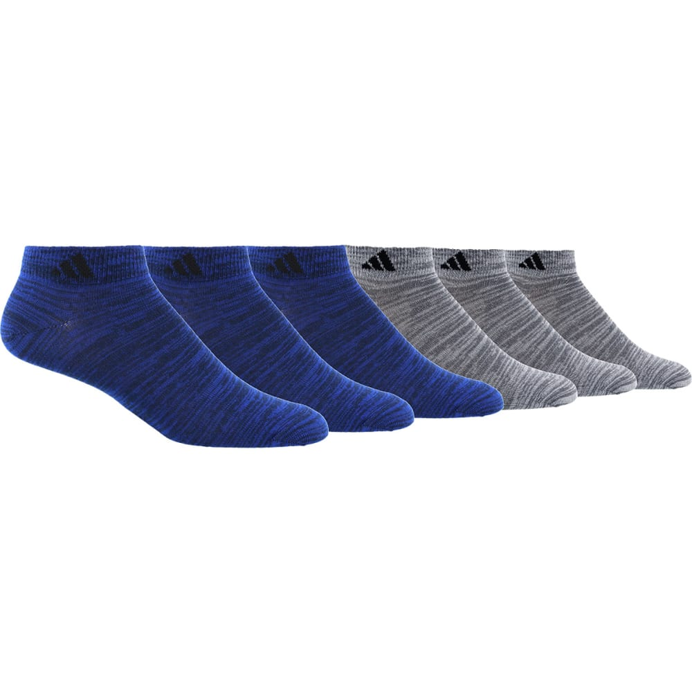ADIDAS Men's Superlite Low-Cut Socks, 6 Pack - ROYAL/BLACK