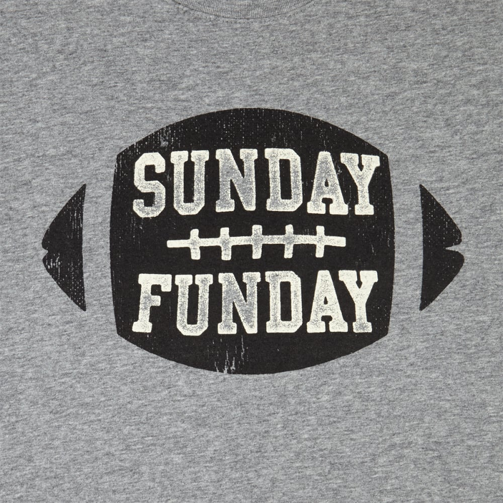 LIFE IS GOOD Men's Sunday Funday Football Smooth Tee - HEATHER GREY
