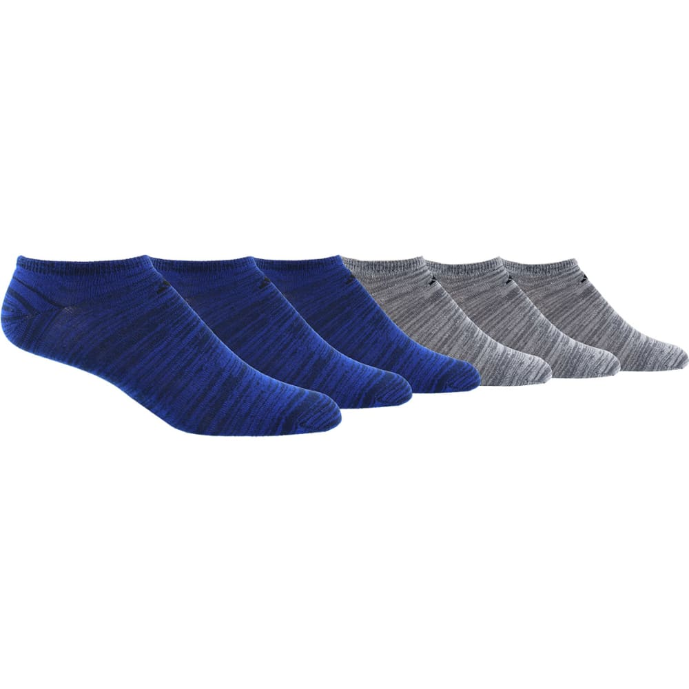 ADIDAS Men's No Show Superlite, 6 Pack - ROYAL/BLK