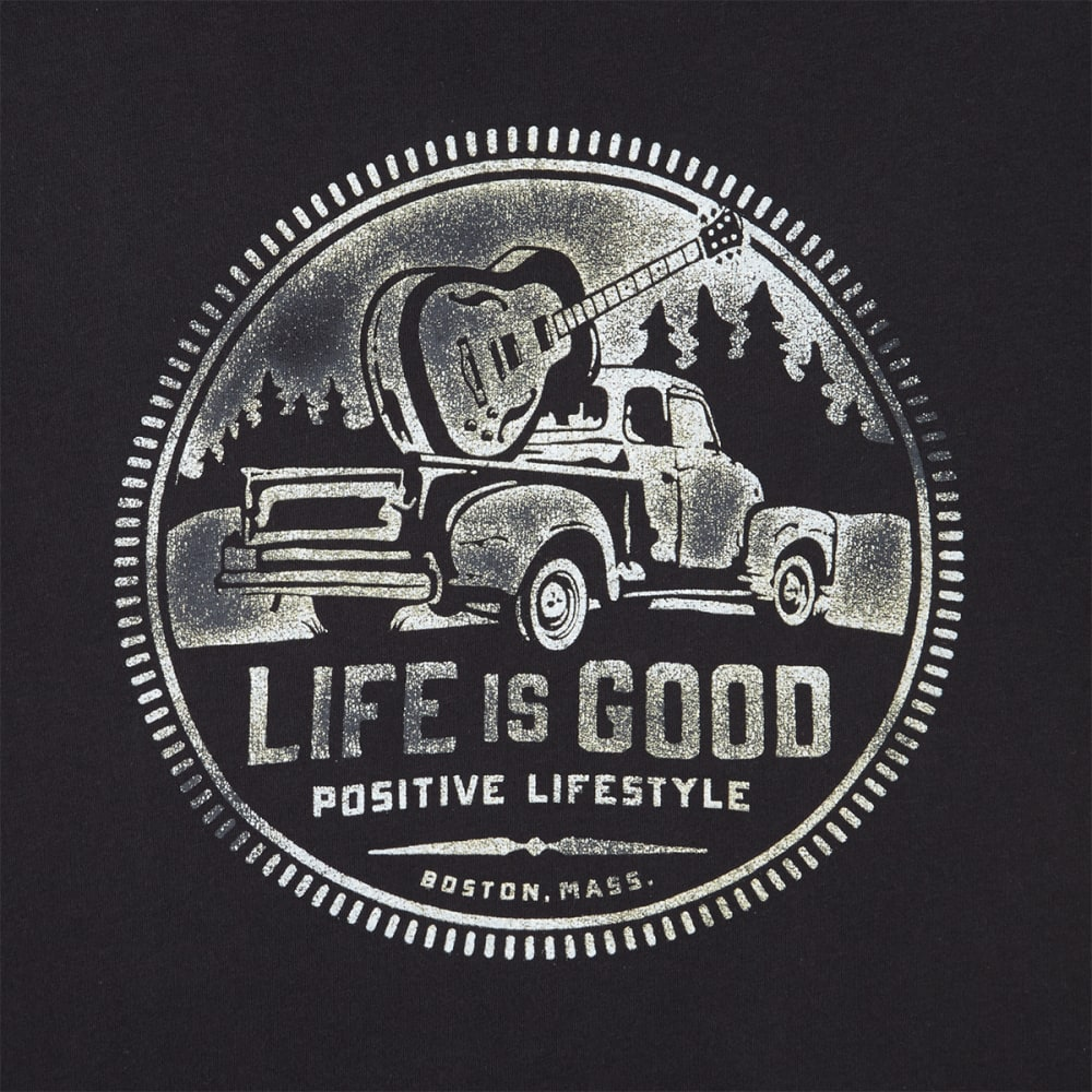 LIFE IS GOOD Men's Positive Lifestyle Truck Smooth Tee - NIGHT BLACK