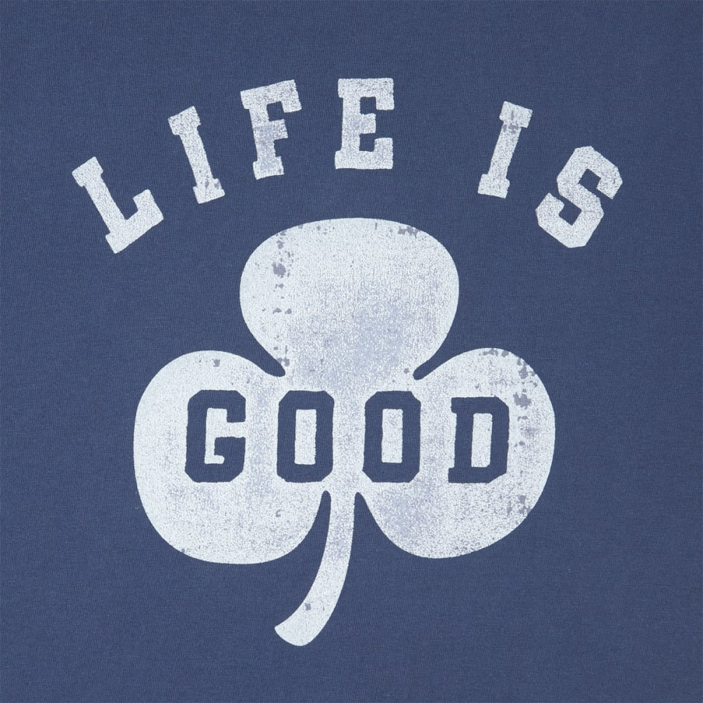 LIFE IS GOOD Men's Shamrock Crusher Short-Sleeve Tee - DARKEST BLUE