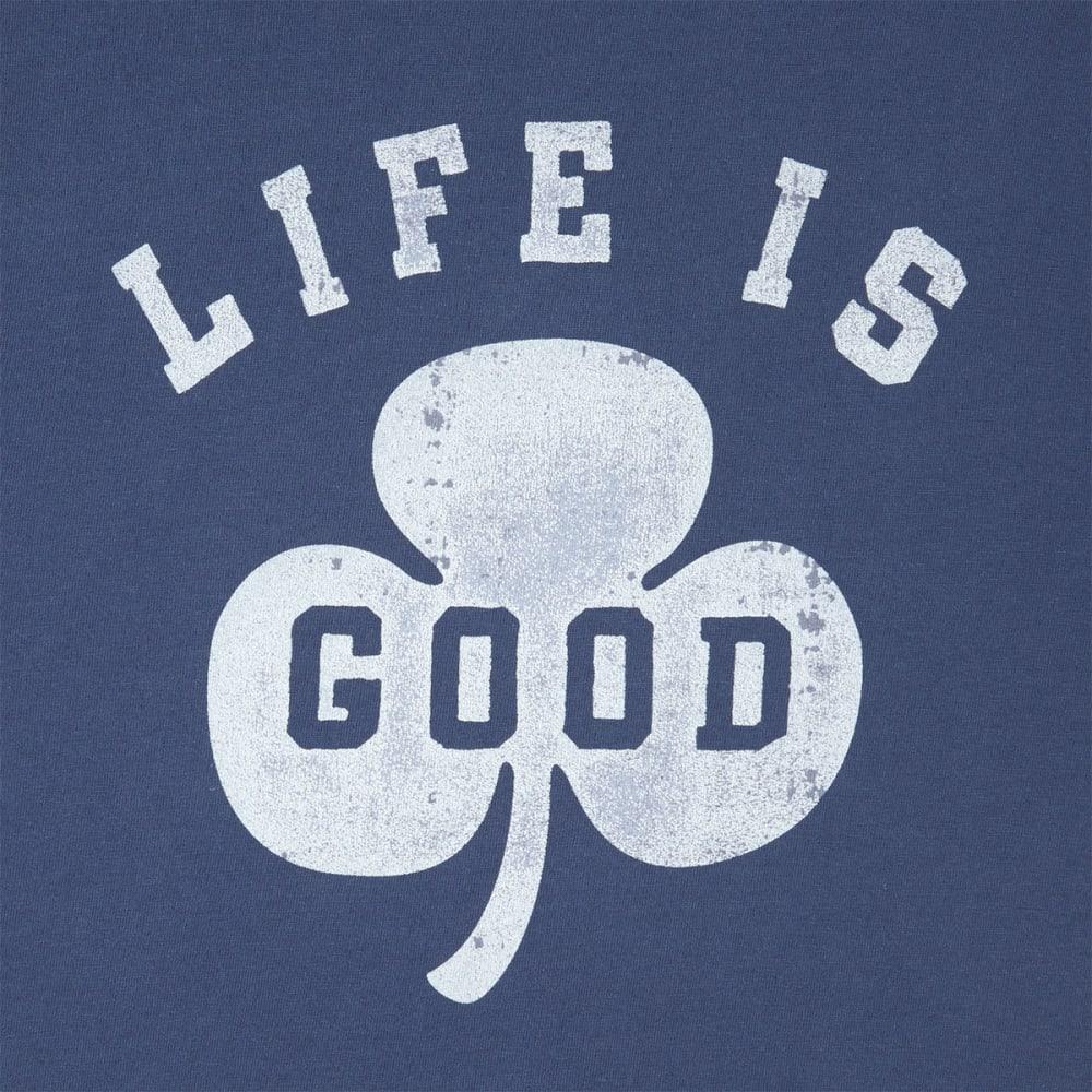 LIFE IS GOOD Men's Shamrock Crusher Short-Sleeve Tee - DARKEST BLUE