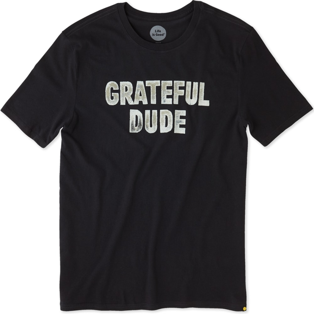 LIFE IS GOOD Men's Grateful Dude Smooth Short-Sleeve Tee - NIGHT BLACK