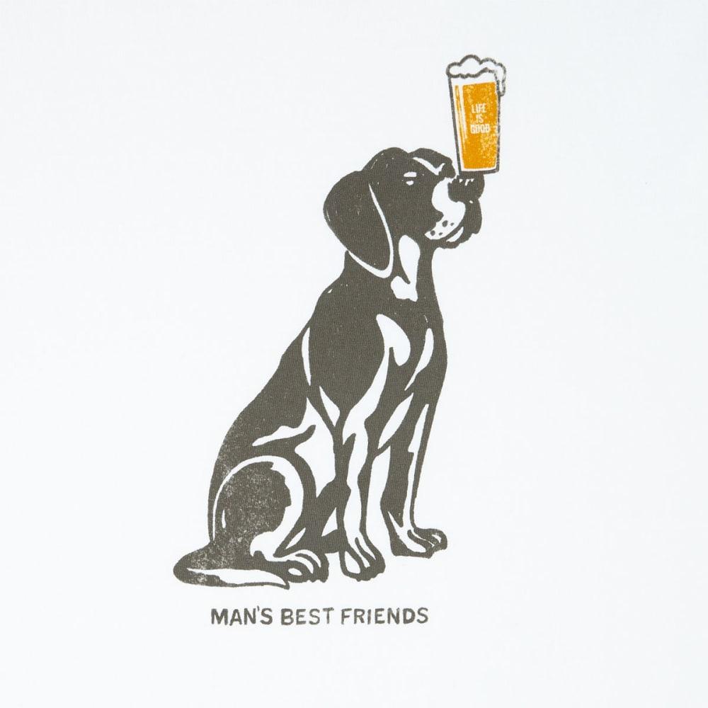 LIFE IS GOOD Men's Man's Best Friend Crusher Short-Sleeve Tee - CLOUD WHITE