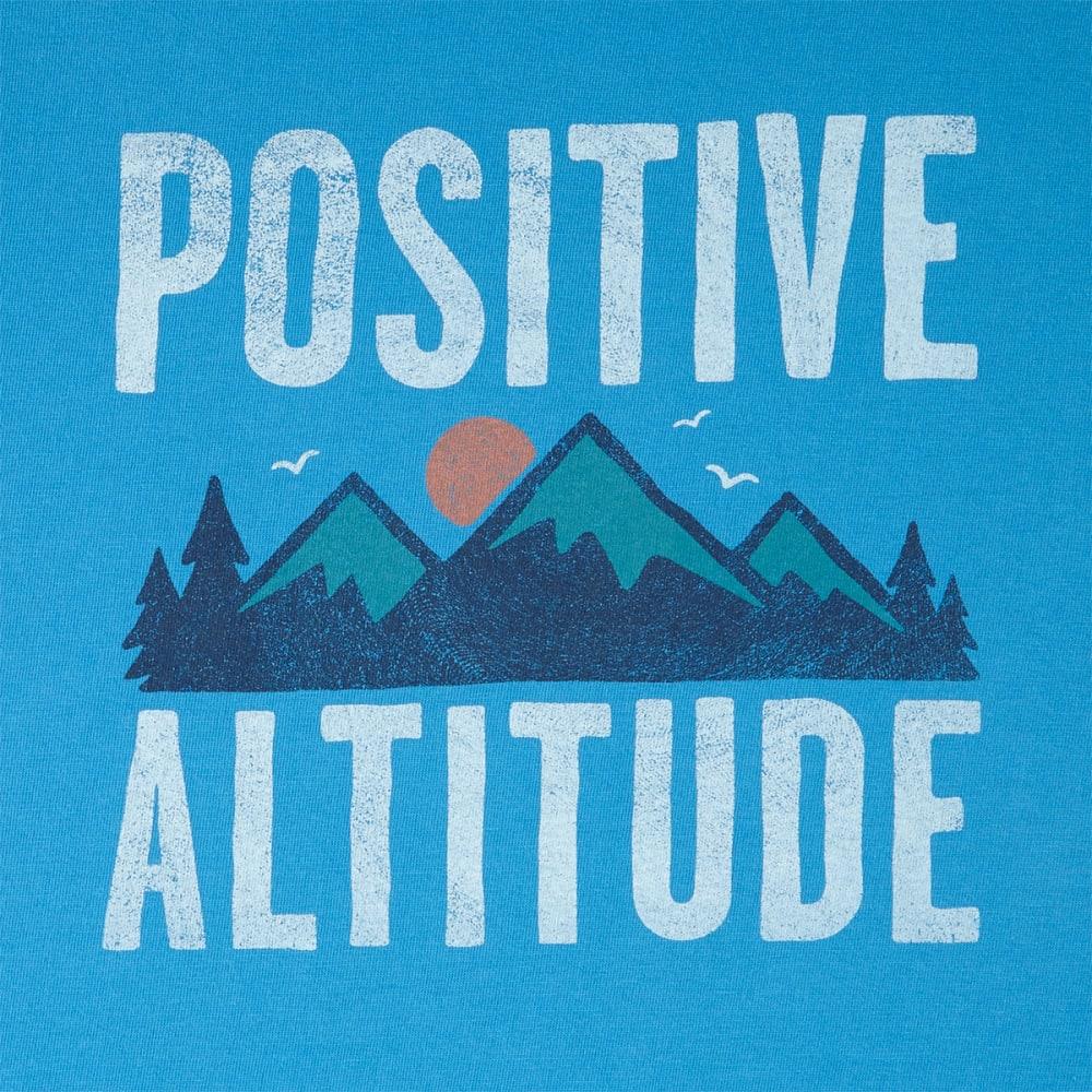 LIFE IS GOOD Men's Positive Altitude Crusher Short-Sleeve Tee - MARINA BLUE