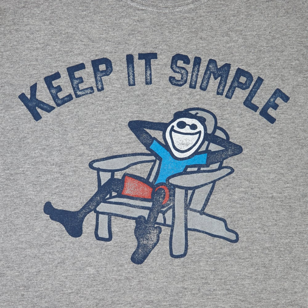 LIFE IS GOOD Men's Adirondack Chair Crusher Short-Sleeve Tee - HEATHER GREY