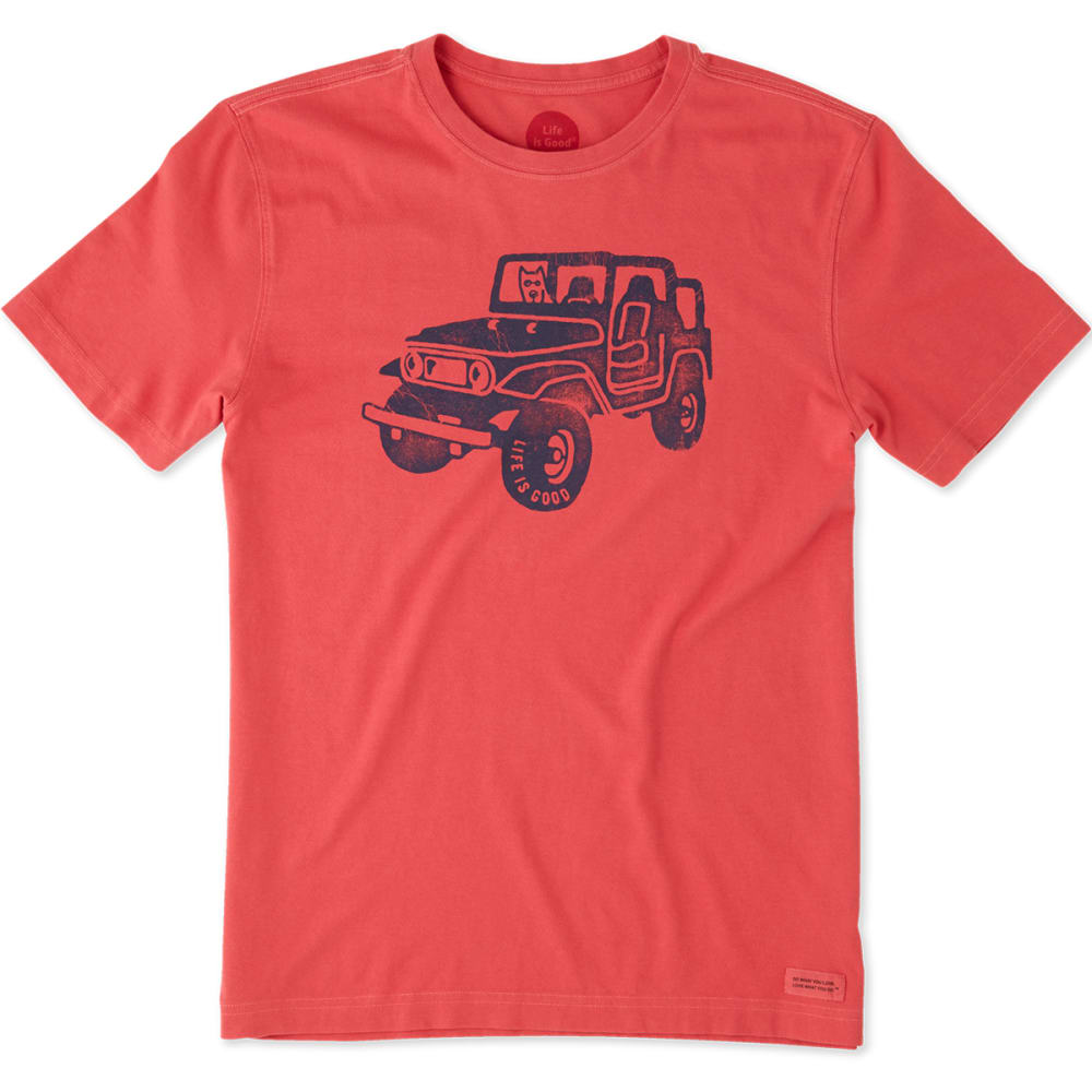 LIFE IS GOOD Men's Offroad 4x4 Crusher Short-Sleeve Tee - AMERICANA RED