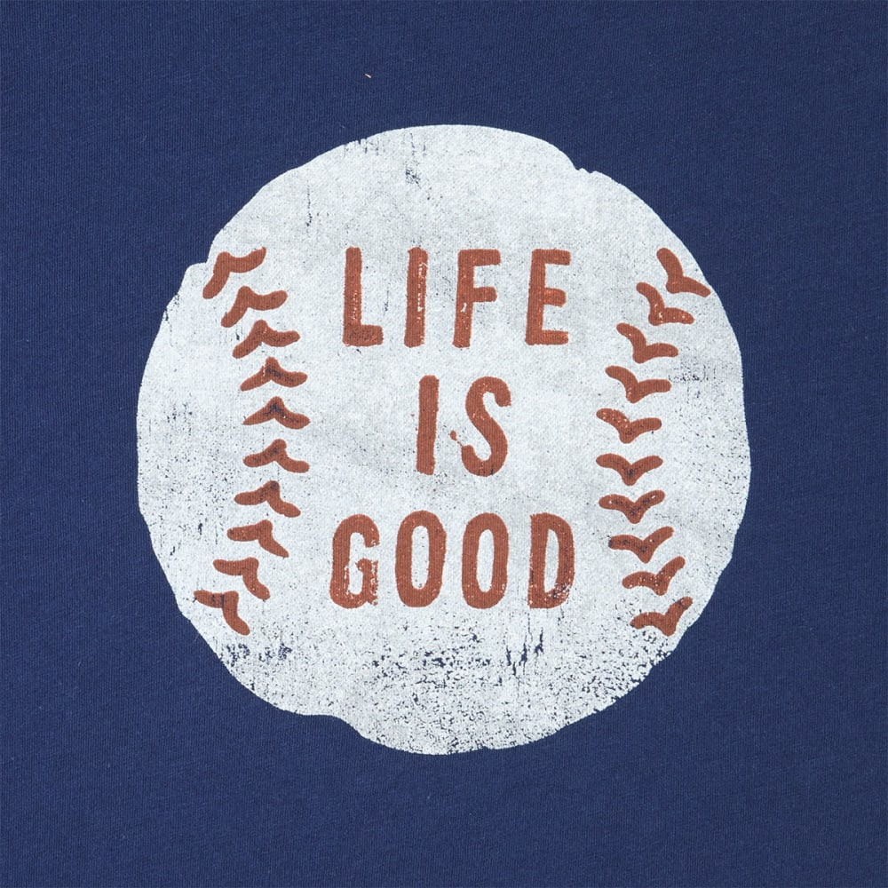 LIFE IS GOOD Men's Vintage Baseball Smooth Short-Sleeve Tee - DARKEST BLUE