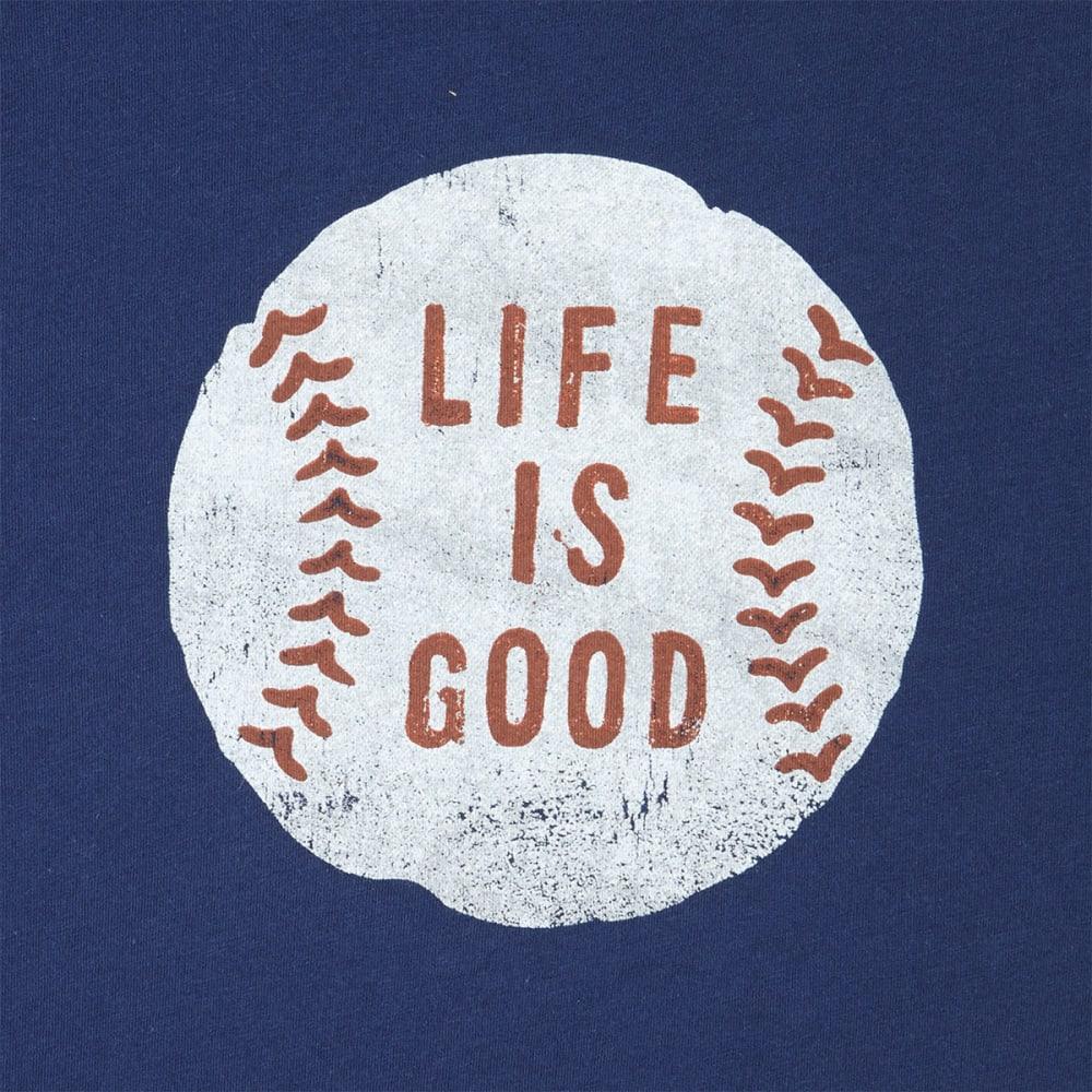 LIFE IS GOOD Men's Vintage Baseball Smooth Short-Sleeve Tee - DARKEST BLUE